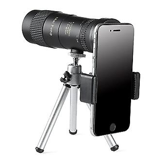MAIFENG 8-40x40 Outdoor Portable Zoom Monocular HD Optic BAK4 Day Night Vision Telescope+Tripod+Phon