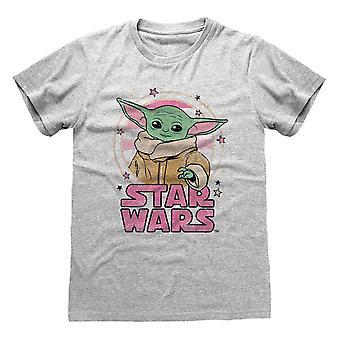 Star Wars: The Mandalorian Unisex Adult Starry Child T-Shirt