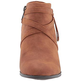 Easy Street Womens reed Leather Almond Toe Ankle Fashion Boots