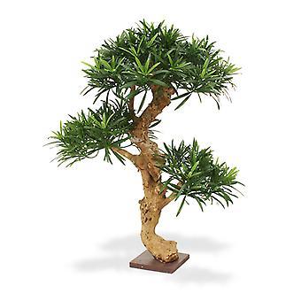 Árvore Artificial Podocarpus Bonsai x3 65cm na base