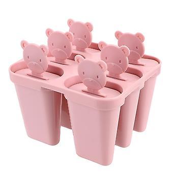 Diy jäätelö työkalut mehujää maker karhu kahva lokero pannu jäädytetty kuutio muotit 6
