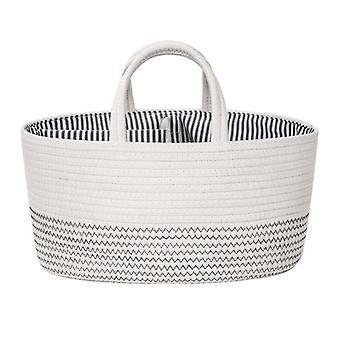 Fashion Baby Diaper Storage Box Cotton Rope Storage Basket Removable Nursery