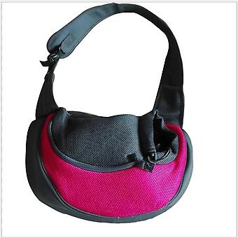 Pretty&better Breathable Dog Carrier, Outdoor Travel Handbag, Pouch, Mesh