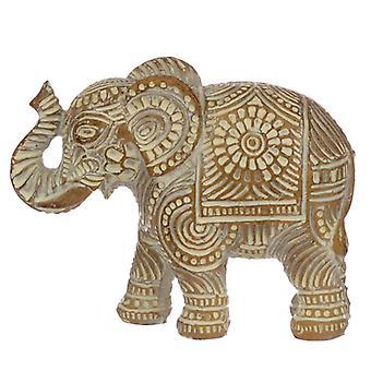 Decoratieve Thaise geborstelde witte en gouden kleine olifant