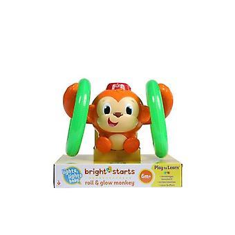 Bright starts roll & glow monkey