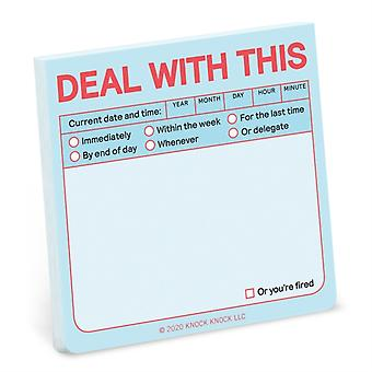 Knock Knock Deal with This Sticky Note Pastel Edition by Knock Knock