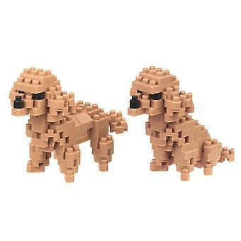 Figura de caniche de juguete (nanobloqueos)