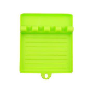 Supports de cuillère de cuisine Fourche Spatula Rack Shelf Organizer Baguettes de repos en plastique