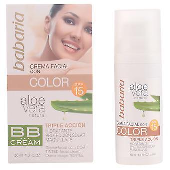 Babaria Gesichtscreme BB mit Farbe SPF 15 Aloe Vera 50 ml