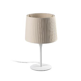 Lampe de table Beige fuselé rond, E27