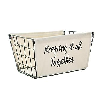 Sass & Belle Keeping it all Together Wire Storage Basket