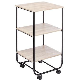 mDesign 3-Tier Rolling Household Storage Cart with 4 Caster Wheels Marble