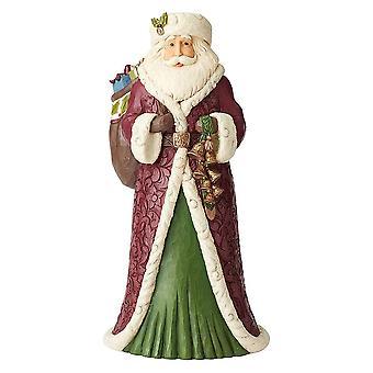 Jim Shore Heartwood Creek Viktoriaaninen joulupukki lelupussin kanssa Suuri hahmo