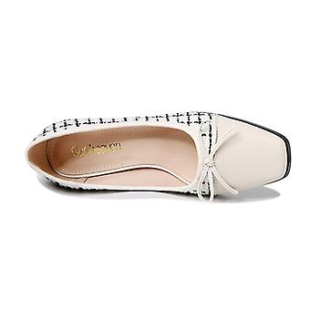 Women's Shoes With Square Head And Thick Heel And Bow