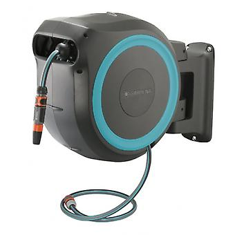 wall hose box with garden hose 25 meters black/blue