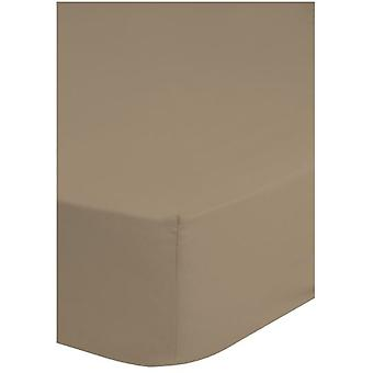 spanbed lakan jersey 140 x 200 cm bomull taupe