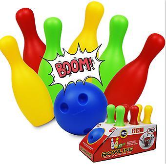 Kinder's Bowling Kunststoff Spielzeug Kindergarten Freizeit Sportunterhaltung 19/22CM Bowling-Set