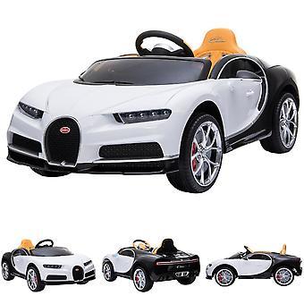 ES-Leksaker Barn Elbil Bugatti Chiron EVA Däck läder säte fjärrkontroll