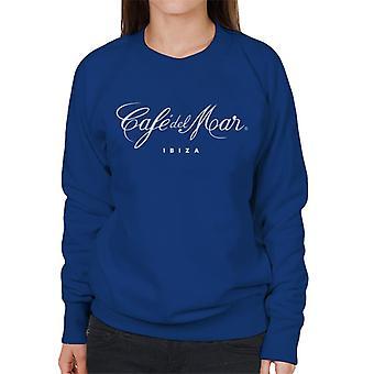 Cafe del Mar Classic White Logo Women's Sweatshirt