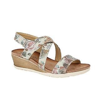 Cipriata Adia Ladies Strappy Wedge Sandals Multi Floral