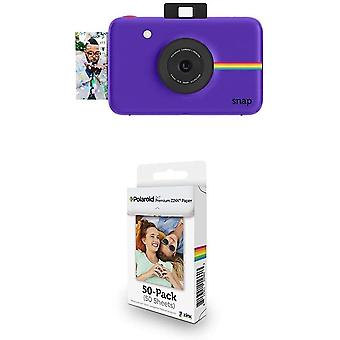 Polaroid Digitale Instant Snap Kamera mit Zink Zero Ink Technologie, 50-Pack-Papierbündel, Lila
