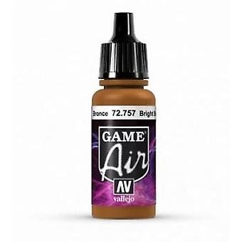 Vallejo Jeu Air 17ml Acrylique Airbrush Paint 72.757 Bronze Lumineux