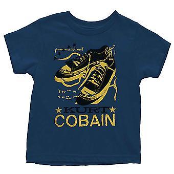 كورت كوبين طفل تي شيرت الأربطة السكينة البحرية الرسمية الأزرق 12 شهرا إلى 5 سنوات