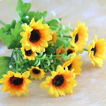 5pcs flor artificial sol crisantemo conservado flor fresca san Valentín regalo flor seca falso regalo de flores para las mujeres