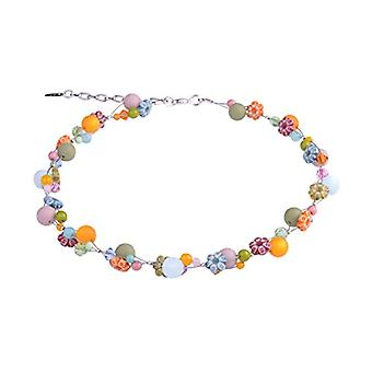 """ollana of flowers """"Julia"""", pastel colors. Delicate mixture of polaris beads, glass and acrylic. Handmade Ref. 425118862099"""