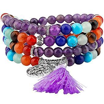 KYEYGWO 108 - Bracelet with Mala prayer pearls for men and women, 6 mm, with Tibetan Buddhist healing stone, unisex Ref. 0635946998892