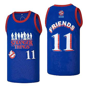 Men's Stranger Things Friends #11 Basketball Jersey Movie Jersey 90s Hip Hop Clothing For Party Stitched Sports T-shirt Size S-xxl