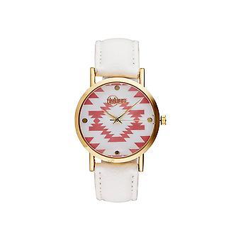 Muse - Golden Woman's Watch - Manila- - white dial pink white bracelet