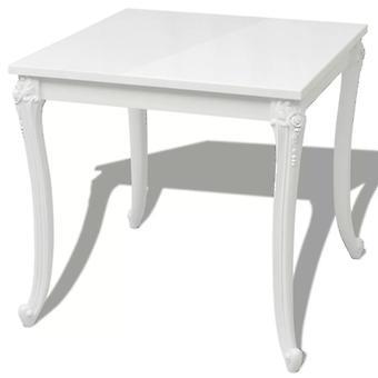 vidaXL dining table 80x80x76 cm high gloss white