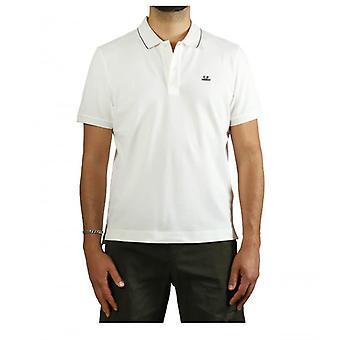 C.p. Company White Slim Fit Polo Shirt