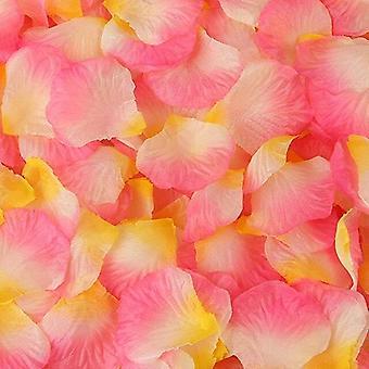 Värikäs keinotekoinen ruusu terälehtiä kukat hääjuhla koristelu