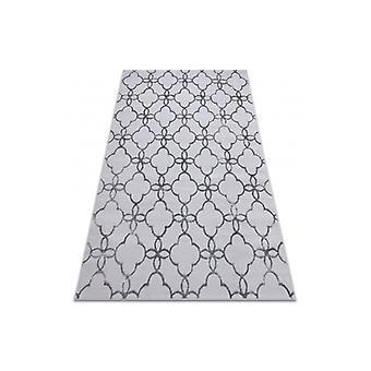 Moderni MEFE-matto 8504 Trellis, kukat - rakenteellinen kaksi kerrosta fleece tummanharmaata