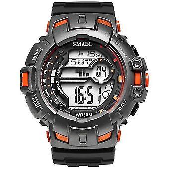 Casual Men Sports Watch Elegant Brand Military Digital Watch Orange