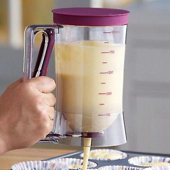 Cream Speratator Batter Flour Paste Dispenser Baking Tools For Cupcakes Pancakes Cookie Cake Muffins 900ml Measuring Cup