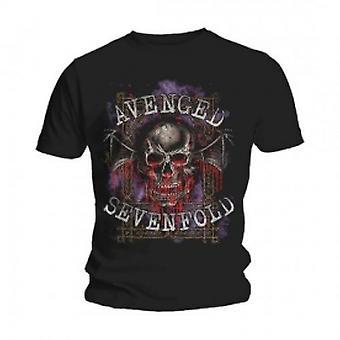Avenged Sevenfold Bloody Trellis Black T Shirt: X Large