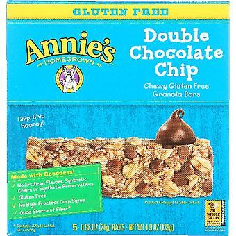 Annie's Homegrown Bar Grnla Gf Dbl Choc Chi, Case of 12 X 4.9 Oz