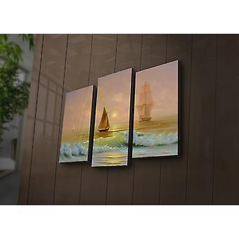 3PAT? ACT-17 Multicolore Décoratif Led Lighted Canvas Painting (3 Pièces)