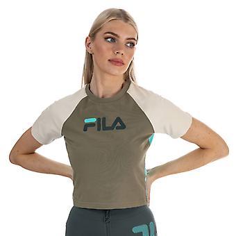 Naisten Fila Aisha Crop T-paita vihreä