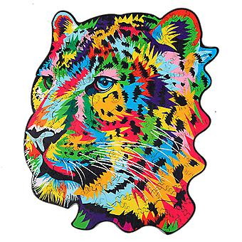 Children's Puzzles Animal Shapes Wood 3d Jigsaw Puzzle Leopard-shaped Children Puzzles Gifts