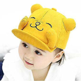 Baby Hat Wiosna i Lato Słodkie Mężczyzna i Kobieta Niemowlę Wiosna i Jesień (Żółty)