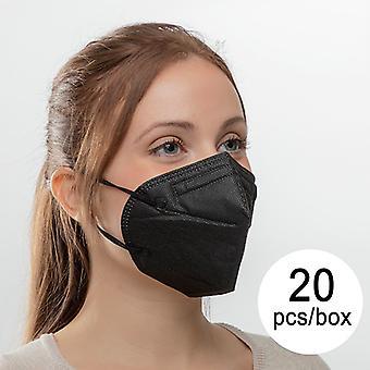 Protective Respirator Mask FFP2 NR ML HC005 Black (Pack of 20)