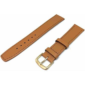 (8mm) Pig Skin Watch Strap Extra Long with Gold Plated Buckle Size 8mm to 20mm