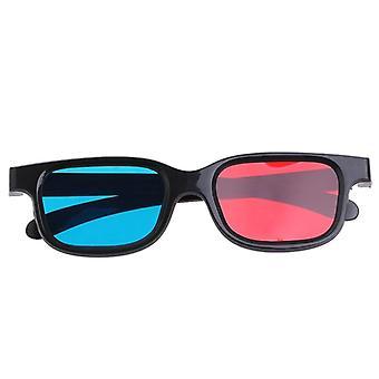 Black Frame Red Blue Glasses