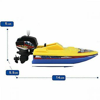 Plastic Ship Float In Water Kids Classic Wind Up Educational Bath Toys