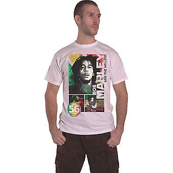 Bob Marley T Shirt 56 Hope Road Rasta Jamaica nya officiella Mens vit