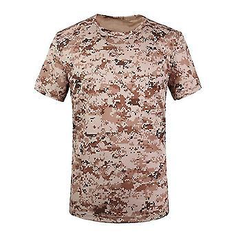 Taktisk Skjorte Camo Army Round Collar Anti-uv Svette For Utendørs